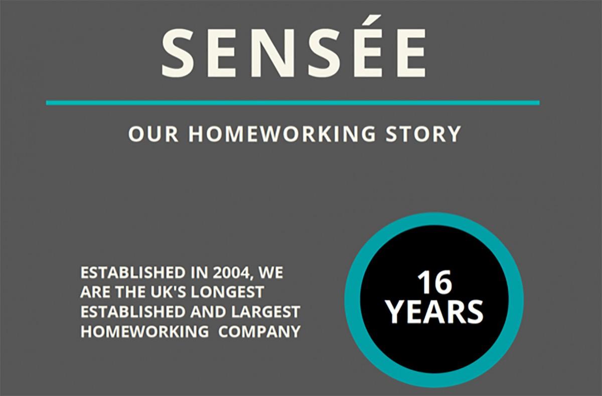 Sensée: Our Homeworking Story (Infographic)