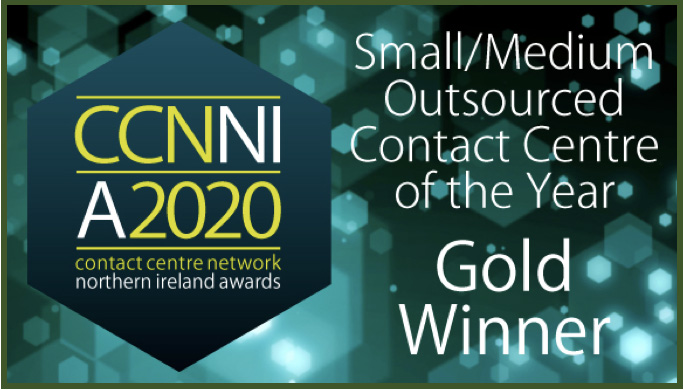 Sensée named Small/Medium Outsourced Contact Centre of the Year at the 2020 Contact Centre Network Northern Ireland Awards