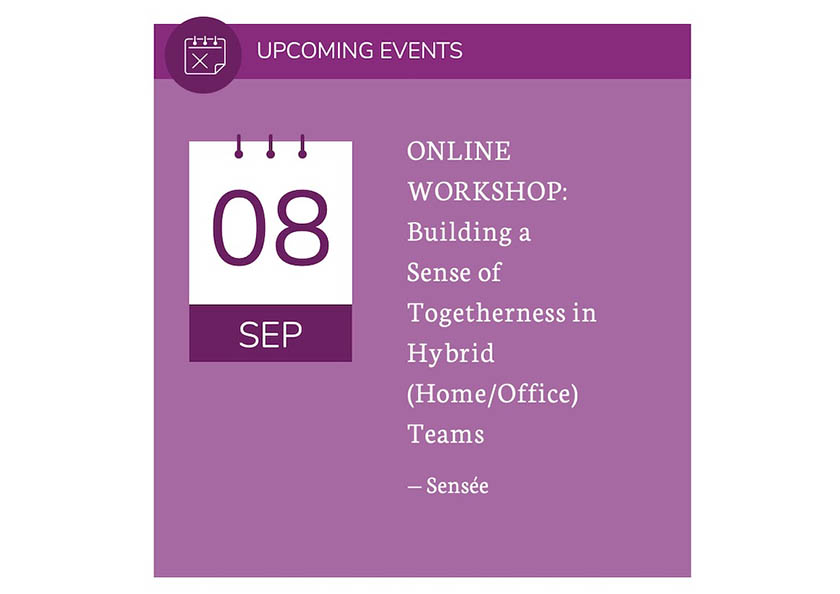 (Webinar) Building a Sense of Togetherness in Hybrid (Home/Office) Teams